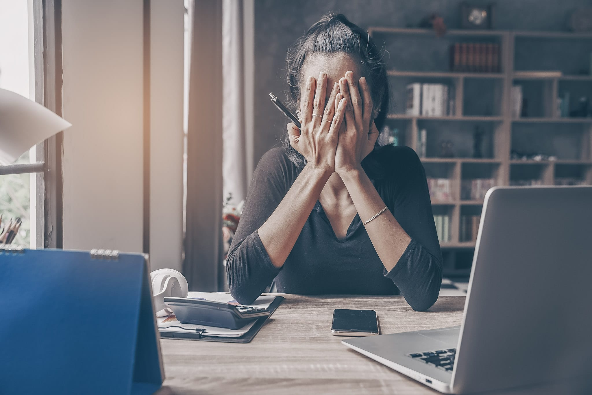 stressed female it professional unsatisfied with her job