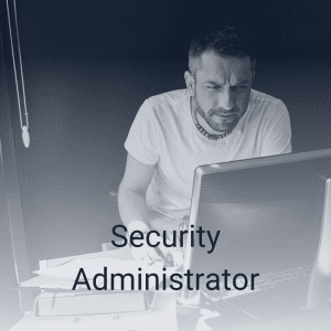 Security Administrator on computer