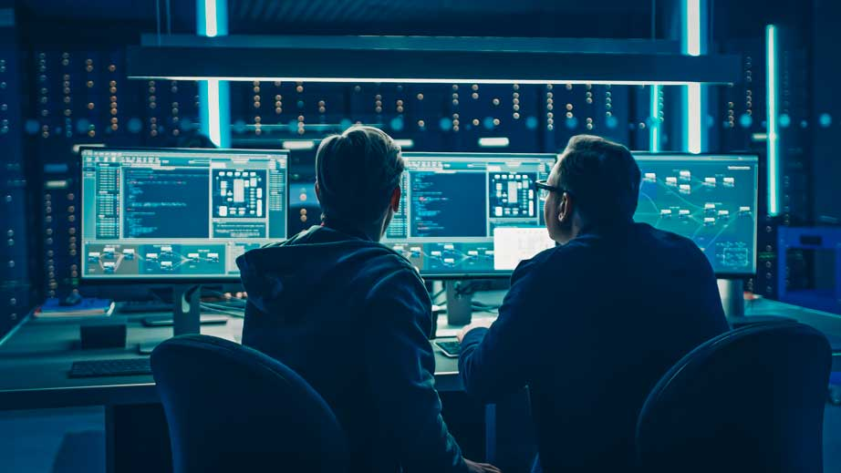 men working in different areas of cybersecurity issues