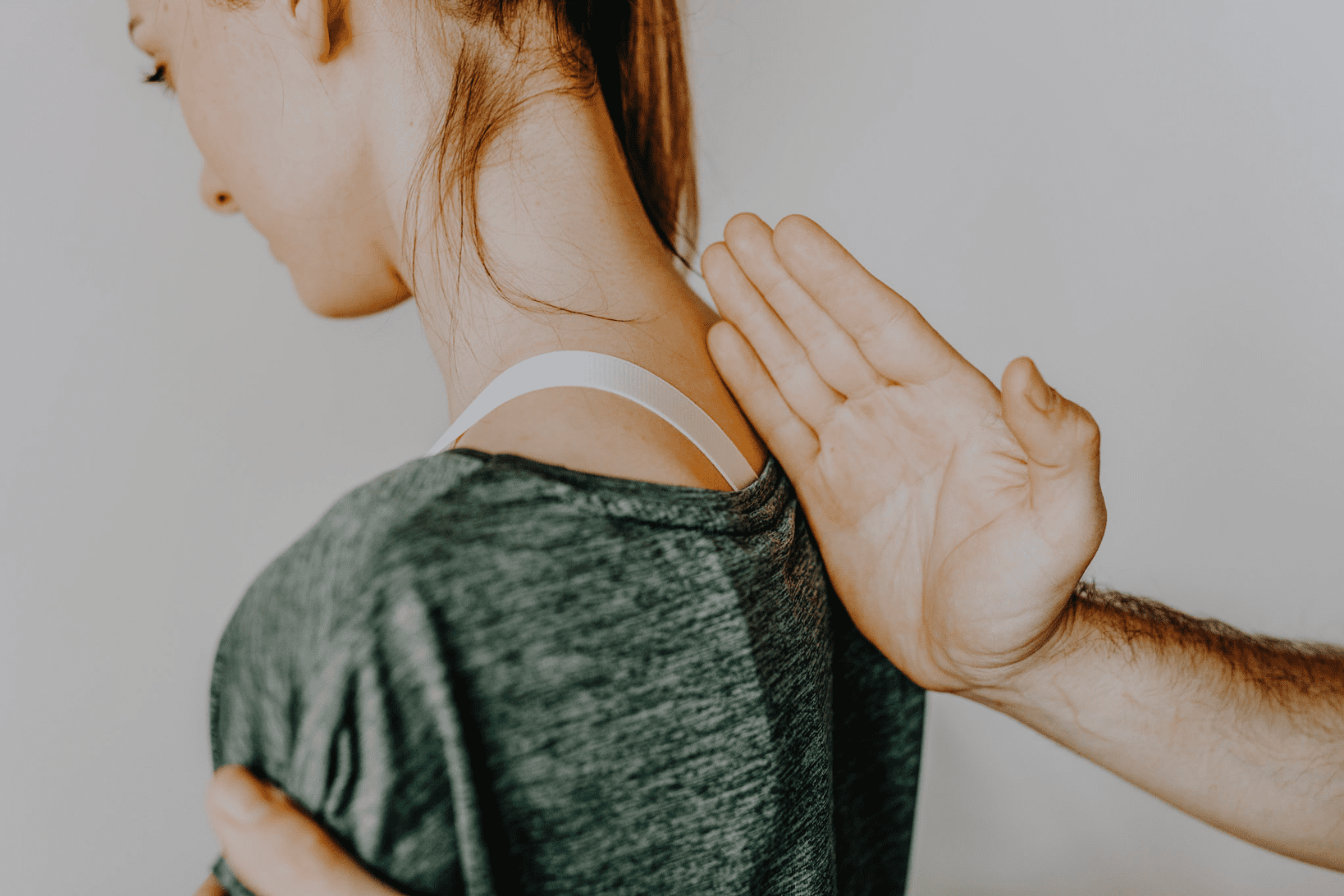 woman finding a chiropractor through getting adjustment