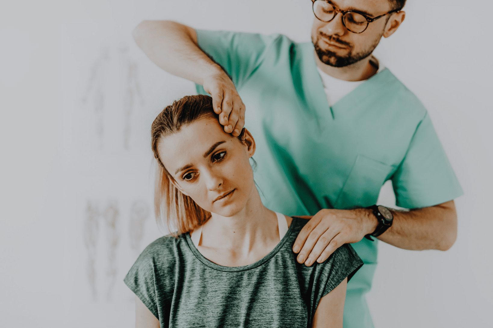 woman finding a chiropractor through initial treatment tests