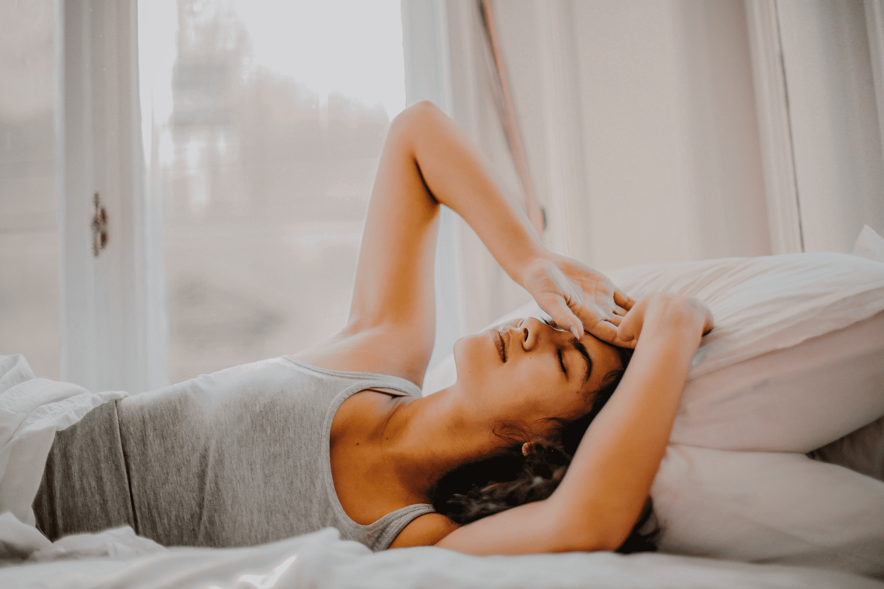 migraine treatments needed for woman in bed